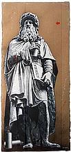 JEF AEROSOL Né en 1957 MICHEL-ANGE - LEONARD - 2014 Pochoir et peinture aérosol sur cartons