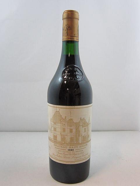 1 bouteille CHÂTEAU HAUT BRION 1989 1er GC Pessac Léognan (photo)