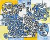Natalia DUMITRESCO (1915-1997) SOUVENIR DU PARC DU TEMPLE KOSAN-JI (FEUILLES D'ERABLE), KYOTO 17 OCT. 1977 - 1978 Gouache et collage..