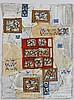 Natalia DUMITRESCO (1915-1997) ENSEMBLE DE 3 GOUACHES 34,5 x 42,5 cm