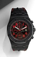 AUDEMARS PIGUET ROYAL OAK OFF SHORE LAS VEGAS STRIP, LIMITED EDITION, vers 2011 Rare et beau chronographe bracelet en acier PVD...