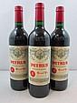 6 bouteilles PETRUS 1997 Pomerol (dont 2 étiquettes fanées)