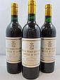 3 bouteilles CHÂTEAU PICHON COMTESSE DE LALANDE 1986 2è GC Pauillac