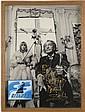 Salvador DALI (Figuères,1904 -Figuères, 1989) Photographie dédicacée et collage de paquet de cigarett...