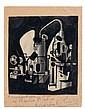 Francis PICABIA (Paris, 1879 - Paris, 1953) MECANIQUE, circa 1919 Encre sur illustration collée sur une enveloppe elle-même contreco...