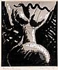 MAN RAY (Philadelphie, 1890- Paris, 1976) PEINTURE FEMININE, 1951 Encre et gouache sur papier photographique