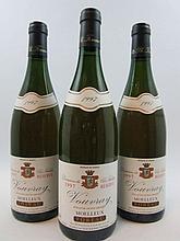 3 bouteilles VOUVRAY 1997 Moelleux Réserve