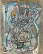 Jacques DOUCET (1924 - 1994) TRAMONTANE, 1970 Huile sur toile