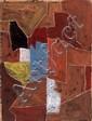 Serge POLIAKOFF (1900-1969) COMPOSITION, 1955 Gouache sur papier kraft