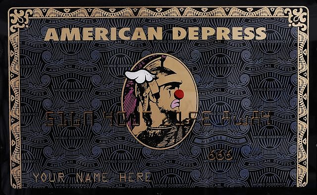 D*FACE () AMERICAN DEPRESS-BLACK AND GOLD, 2012 Sérigraphie sur plexiglas