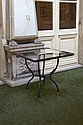 TABLE DE JARDIN EN FER FORGE