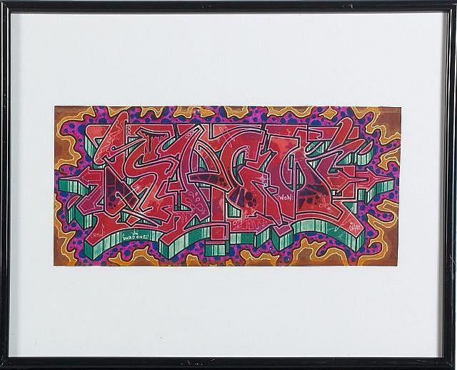 DURO (né en 1958) SANS TITRE, 1999 Technique mixte sur papier