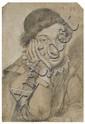 Ippolito Leoni Rome, 1616 - 1694 Jeune garçon pensif Crayon noir et craie blanche sur papier bleu,, Ippolito Leoni, Click for value