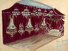 André LEVASSEUR 1927-2006 BAL MASQUE A L'OPERA - SPORTING D'HIVER - 1956