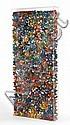 Marcello LO GIUDICE (né en 1955) DELLA PRIMAVERA DI BOTTICELLI, 1998 Accumulations de céramiques peintes en forme de papillons monté...