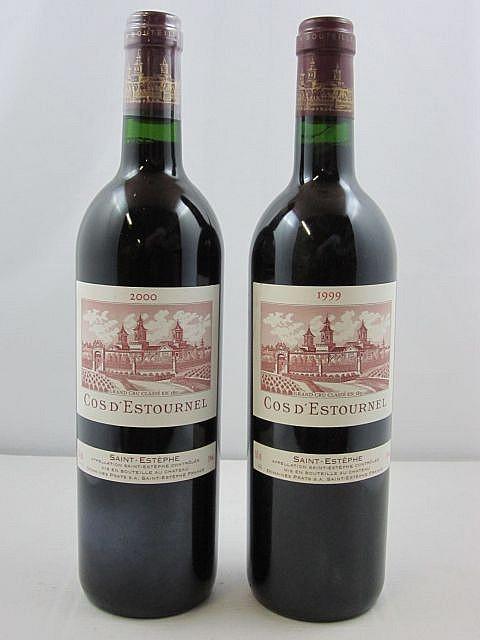 2 bouteilles 1 bt : CHÂTEAU COS D'ESTOURNEL 1999 2è GC Saint Estèphe