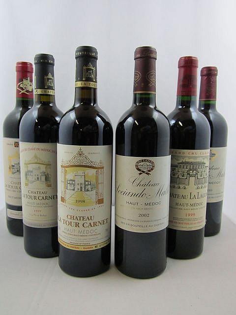 5 bouteilles 1 bt : CHÂTEAU FIGEAC 1999 1er GCC (B) Saint Emilion