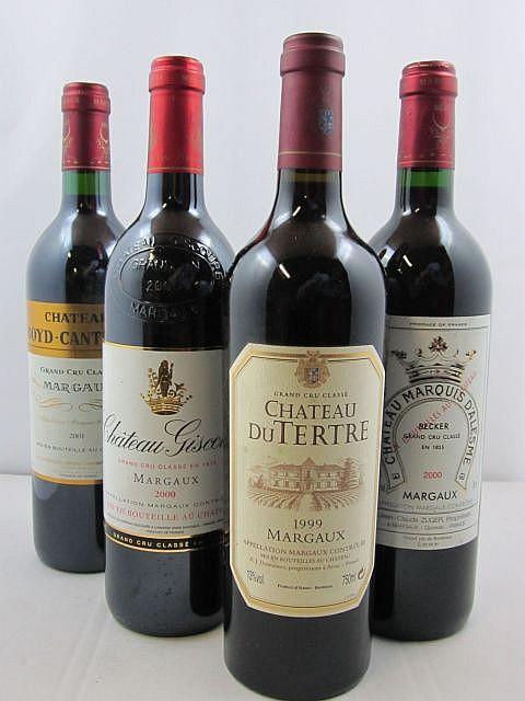 6 bouteilles 2 bts : CHÂTEAU GISCOURS 2000 3è GC Margaux