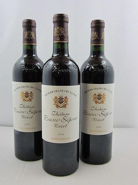 6 bouteilles CHÂTEAU BEAUSEJOUR BECOT 2004 1er GCC (B) Saint Emilion