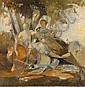 Gabriel Ferrier Nîmes, 1847 - Paris, 1914 Trois muses : Clio, Euterpe et Thalie, d'après Eustache Le Sueur Huile sur panneau, Gabriel (1847) Ferrier, Click for value