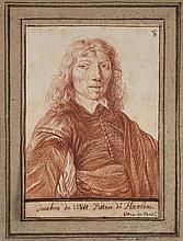 Ecole hollandaise du XVIIe siècle  Portrait d'homme Sanguine,