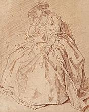 Louis-Roland Trinquesse Paris, vers 1745 - vers 1800 Femme assise Sanguine