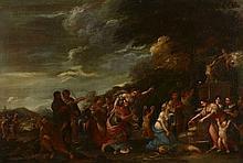 Ecole italienne du XVIIe siècle Entourage de Filippo Lauri L'Offrande à l'Amour Huile sur toile