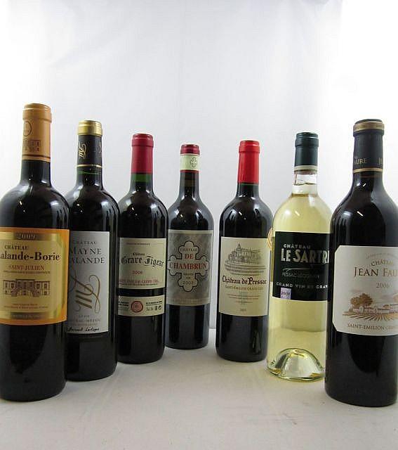 11 bouteilles 2 bts : CHÂTEAU LE SARTRE 2009 Pessac Léognan (Blanc)