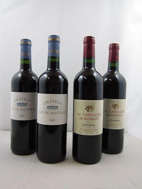 8 bouteilles 4 bts : CHÂTEAU CAP DE FAUGERES 2009 Côtes de Castillon