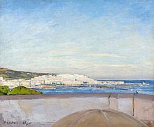 Paul Elie DUBOIS (1886-1949) ALGER, VUE D'UNE TERRASSE