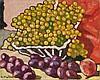 Louis VALTAT (Dieppe, 1869 - Paris, 1952) FRUITS ET RAISINS, 1939 Huile sur toile