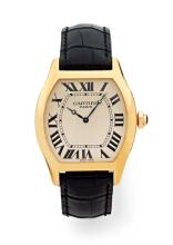 CARTIER TORTUE, n° 074, vers 2008 Belle montre bracelet en or rose 18K (750) with its box
