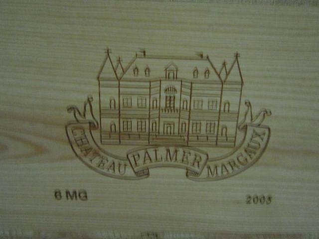 6 magnums CHÂTEAU PALMER 2005 3è GC Margaux Caisse bois d'origine