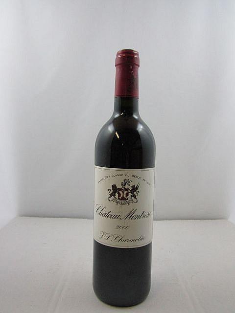 1 bouteille CHÂTEAU MONTROSE 2000 2è GC Saint Estèphe (étiquette léger abimée
