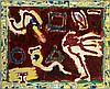 Pierre ALECHINSKY (né en 1927) TROIS PAR TROIS, 1994-1996 Acrylique à remarques marginales sur papier marouflé sur toile