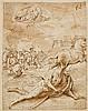 Attribué à Carlo Urbino Crema, vers 1525 - vers 1585 La conversion de saint Paul Plume et encre brune, lavis brun sur trait de sangu...