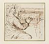 Pietro Muttoni, dit della Vecchia Venise, 1603 - Vicence, 1678 Claveciniste Plume et encre brune sur trait de sanguine