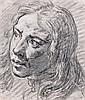 Attribué à Charles Parrocel Paris, 1688 - 1752 Portrait d'homme recto-verso Crayon noir et estompe