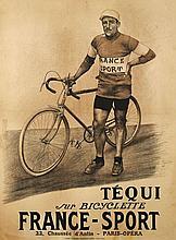 ANONYME  TEQUI SUR BICYCLETTE FRANCE - SPORT