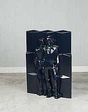 Xavier VEILHAN Né en 1963 AIR (JEAN-BENOIT ET NICOLAS) - 2007 Thermoformage (bleu noir)