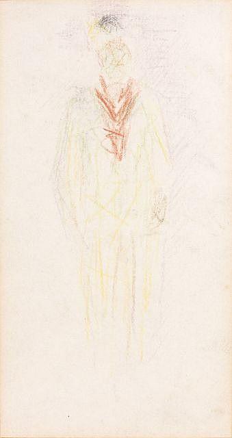 Georges Pierre SEURAT (Paris,1859-Gravelines, 1891) PITRE, circa 1880 Dessin au crayon de couleurs sur papier
