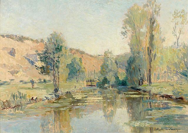 Albert LEBOURG (Montfort sur Risle, 1849 - Rouen) BORDS DE L'ITON Huile sur toile