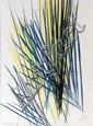 Hans HARTUNG (1904-1989) HH 5455, 1968 Dessin aux pastels gras de couleurs sur papier
