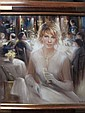 BONNAND La perle d'or Huile sur toile 59 x 59 cm.