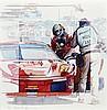 Michel LECOMTE (1935-2011)  Ferrari dans les stands, 24 Heures du Mans 2008