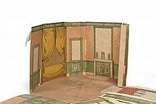 Pierre-François-Léonard Fontaine Pontoise, 1762 - Paris, 1853 Dessin-maquette : projet en trois dimensions pour un salon à musique A...