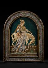 Armand Point (Alger, 1860 - Naples, 1932) et Charles Virion (Ajaccio, 1865 - Montigny-sur-Loing, 1946) Princesse à la licorne Relief...