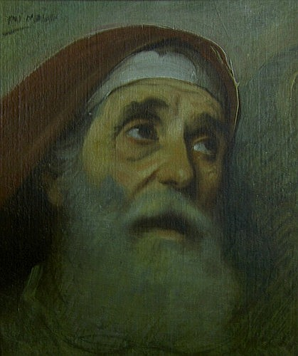 Jean-Jules-Antoine LECOMTE de NOUY (Paris, 1842 - 1923) PORTRAIT D'HOMME BARBU Huile sur...