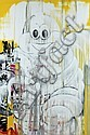 SEEN (Richard Mirando aka) (né en 1961) MICHELIN MAN, 2010 Peinture aérosol sur toile, Richard Mirando, Click for value