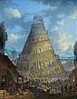 ¤ Johann Graf Vienne, 1653 - après 1720 La Tour de Babel Cuivre